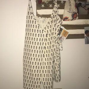 high end brand wrap dress